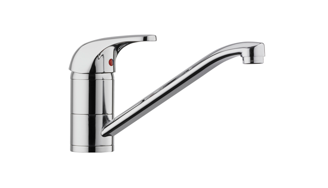 MES open vented standard single lever sink mixer